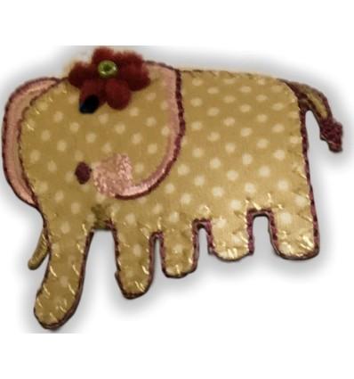 toppa ricamata elefante