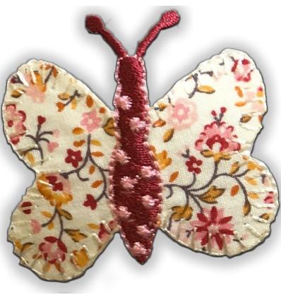 toppa ricamata farfalla
